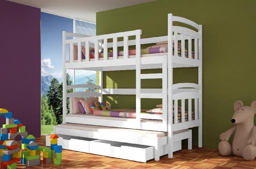 łoża I łóżka łóżko Piętrowe Damian 3 Osobowe Mebletop24